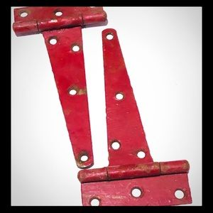 2 rustic red barn door hinges